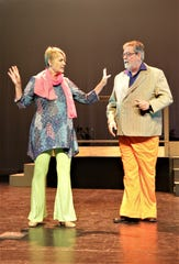 """Margaret Clair and Ben Tyler are featured in a scene from """"Disaster!,"""" which opens Feb. 20 at the Farmington Civic Center."""
