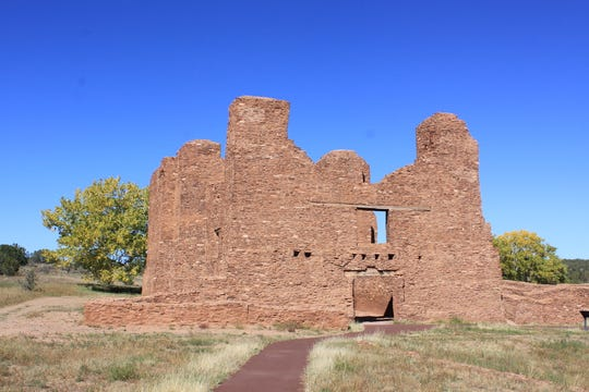 The ruins of Abo are part of the Salina Pueblo Missions National Monument northeast of Lincoln County.