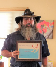Mike Shreve was named Champion of Service by the Ruidoso Valley Chamber of Commerce.