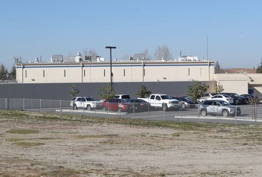 The GEO Mesa Verde ICE Processing Center in Bakersfield, California, February 12, 2020.