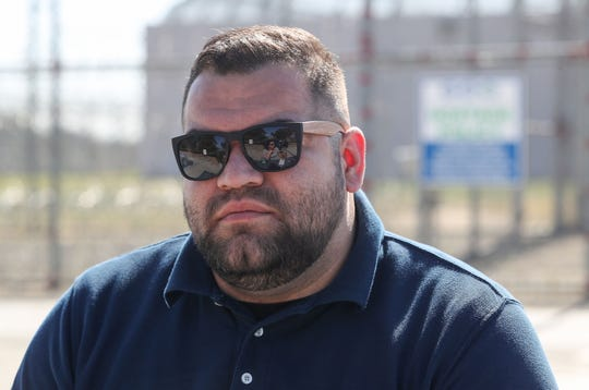 Raul Chavez, is an officer and instructor at the Central Valley Modified Community Correctional Facility in McFarland, California, February 12, 2020.