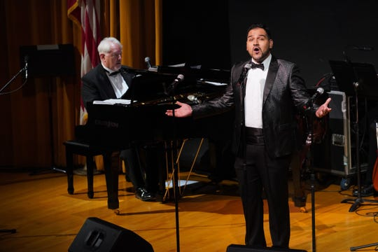 "Christian Quevedo, tenor, performing ""Salvalo"" from  Les Misérables."
