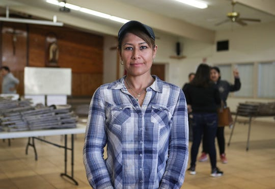 Esmeralda Gonzalez, is a McFarland resident of 30 years and mother of five who works in the fields and construction and is opposed to a new Immigration and Customs Enforcement detention facility coming to McFarland, California, February 12, 2020.