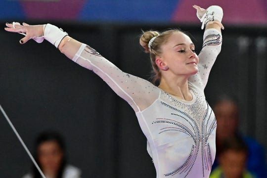 Gymnast Riley McCusker now is training at Arizona Sunrays along with Jade Carey in pursuit of a berth on the U.S. Olympic gymnastics team.