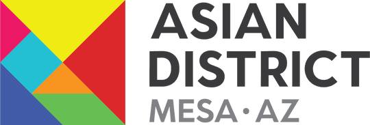 The new logo for Mesa's Asian District. The seven-piece tangram is a traditional Chinese geometric puzzle where the pieces can be rearranged in different shapes. The city says the tangram is symbolic of various Asian cultures coming together in a unified district.