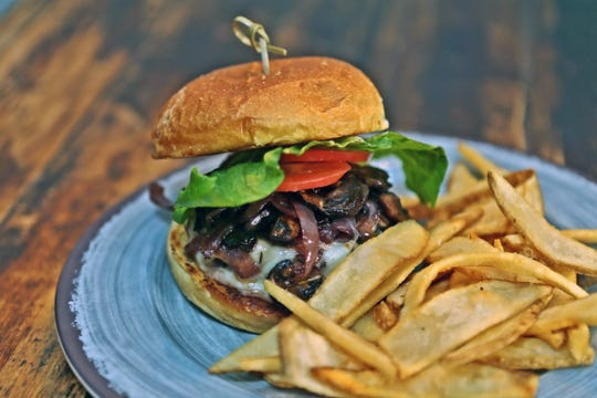 The Malbec burger at Salut Kitchen Bar.