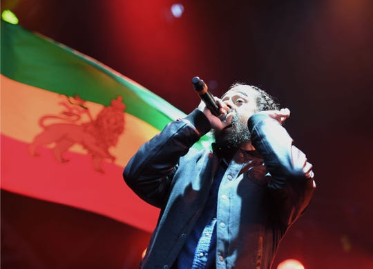 """Damian """"Jr. Gong"""" Marley performs onstage during The Meadows Music & Arts Festival on October 1, 2016 in New York City/"""