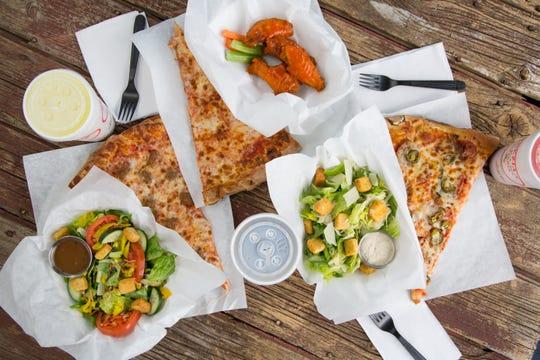 Pizza and salads at Venezia's.