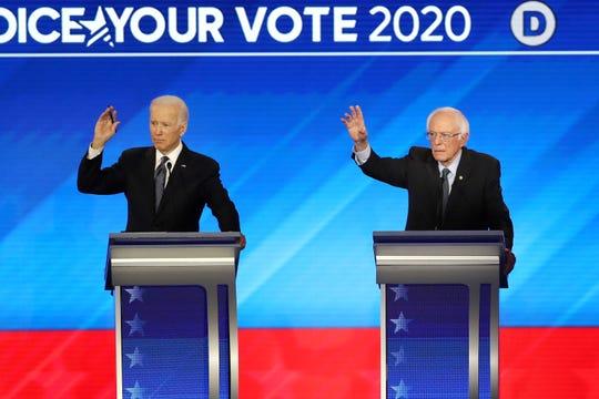 Joe Biden, Bernie Sanders.