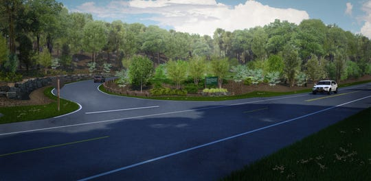 This rendering shows the planned entrance to Clarence Fahnestock Memorial State Park's Big Woods Drive.