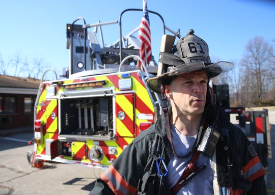 Arlington Fire District firefighter Chris Quinby about about the training he participated in at the former Poughkeepsie Inn on February 17, 2020.