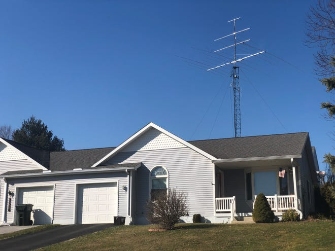 Residents of White Rose Lane in Windsor Township are upset about this amateur radio tower in their neighbor's yard.