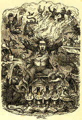 Frontispiece for Timothy Shay Arthur's 1854 temperance bestseller 'Ten Nights in a Bar-room, abd What I Saw There.'