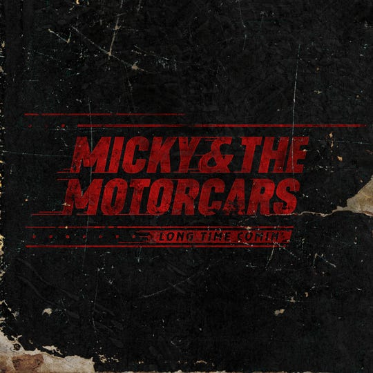 "Album artwork of ""Long Time Comin'"" from band, Micky & The Motorcars."