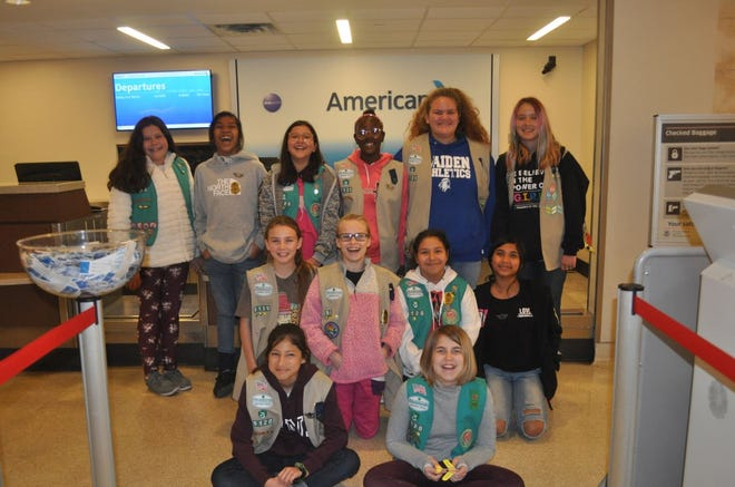 Girl Scouts from Troop 5120 in San Angelo toured the Regional Airport on Feb. 10, where they learned about several phases of airport operations ahead of their spring-break trip to Georgia. For many, this will be their first time to fly.
