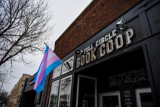 Full Circle Book Co-op is seen on Monday, Feb. 17, 2020 in downtown Sioux Falls. Full Circle was vandalized twice over the weekend.