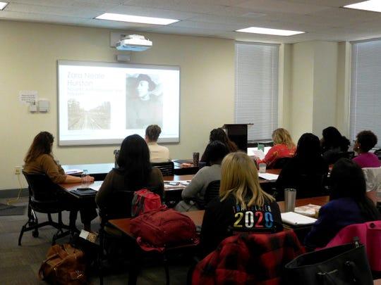 Teachers examined Zora Neale Hurston's documentation of Florida railroad workers.