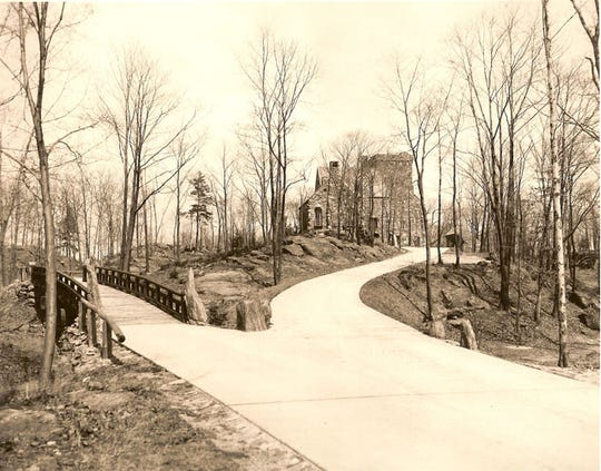 Historical photo of Elda. Built by David Abercrombie in the 1920s, the castle today is in need of major renovations.