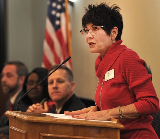 Wichita County Republican Women, president, Shirley Craft helped host a candidates forum Monday.