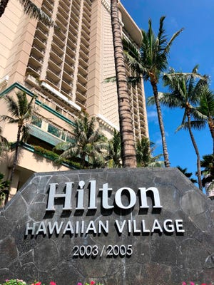 The man became symptomatic Feb. 3 while staying at the The Grand Waikikian at Hilton Hawaiian Village.