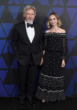 Harrison Ford and wife Calista Flockhart attend the Academy of Motion Picture Arts and Sciences' 10th annual Governors Awards in 2018.