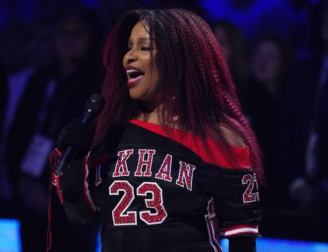 Chaka Khan performs the national anthem at the NBA All-Star Game on Feb. 16, 2020.