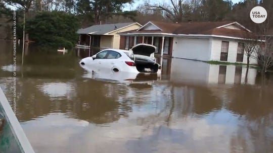 More rain forecast for flooded South during near-record wet winter