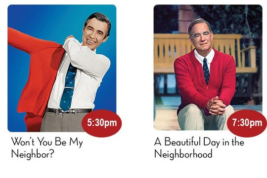 The Paramount Theatre will feature Fred Rogers twice for a double dose of kindness.