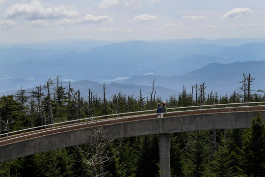 Scenes from Clingmans Dome in Great Smoky Mountains National Park April 11, 2019.