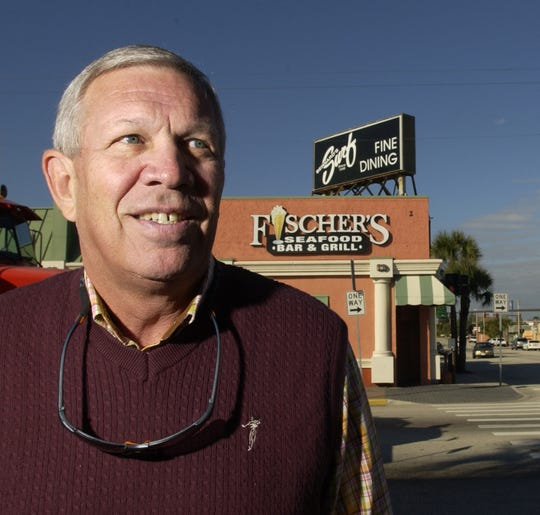 Rusty Fischer, shown in front of Bernard's Surf in 2006, took over the Cocoa Beach restaurant in the 1960s after his uncle, Bernard Fischer, died. Bernard opened the iconic restaurant in 1948.
