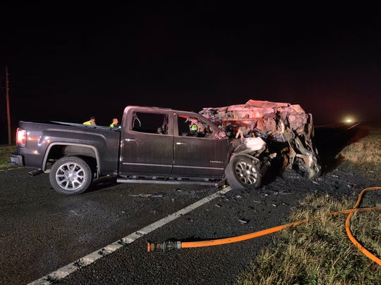 Florida Highway Patrol troopers say a Palm Bay man was killed in a fiery, wrong-way crash in Osceola County