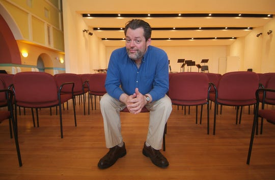 Former Vermont Youth Orchestra music director Troy Peters, shown at the Elley-Long Music Center in Colchester in 2005, returns to the area to conduct the Vermont Symphony Orchestra on Feb. 22.