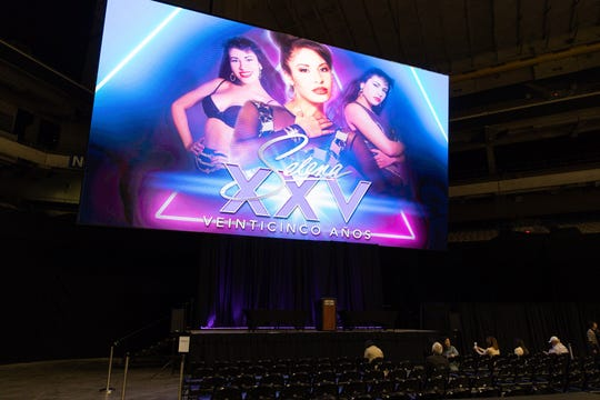 Selena XXV press conference is being held at the Alamodome in San Antonio on Feb. 18, 2020.