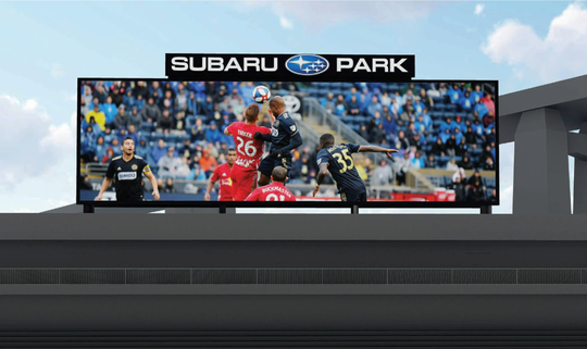 An upgraded videoboard will be part of Subaru Park, the Chester, Pa., stadium that's home to the Philadelphia Union soccer team.