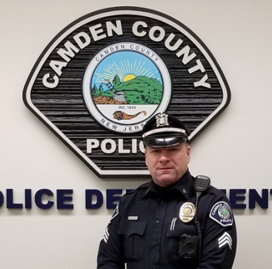 Camden County Police Sgt. William Reese chased and arrested a suspect after the armed robbery of an East Camden barbershop.