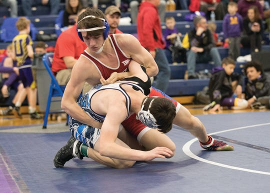 Zane Trace junior Kaleb  Frankopolous was chosen for the 138-pound weight class for the 2019-2020 Scioto Valley Conference All-League Wrestling Team.