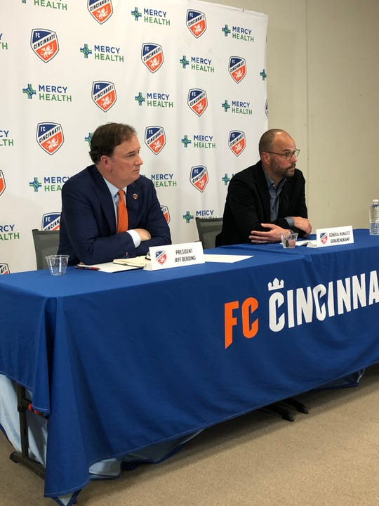 FC Cincinnati press conference about Coach Ron Jans resignation.