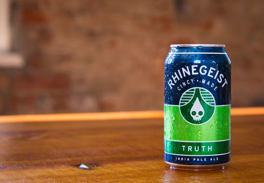 Rhinegeist's Truth: 7.2%, a Rhinegiest classic, IPA with tropical flavors.