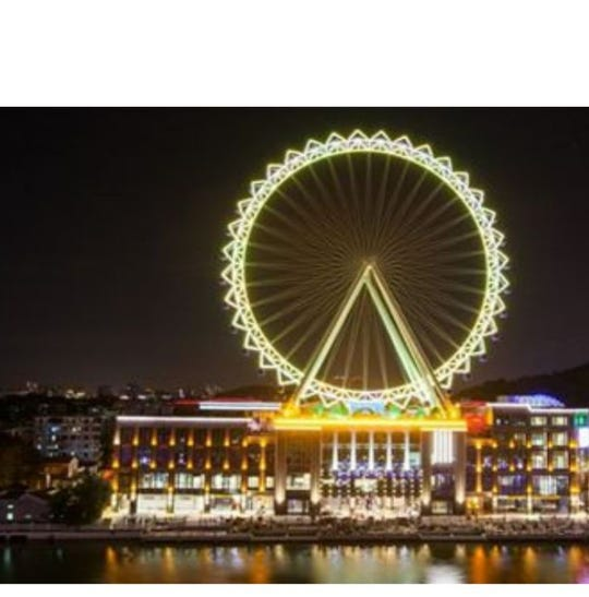 An example of the type of observation wheel that will be built on the riverfront