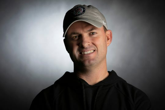 Bengals head coach Zac Taylor, photographed in the Enquirer's photo studio on February 18.
