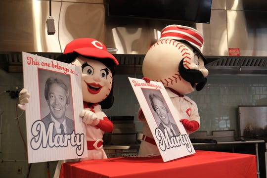 The Cincinnati Reds name Marty Brennaman as the Grand Marshal for the 2020 Findlay Market Opening Day Parade, at Findlay Kitchen in Cincinnati on Tuesday, Feb. 18, 2020.