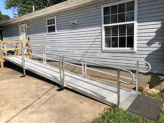 The Coshocton County Handicapped Society switched from wooden ramps to aluminum ramps, which are more cost effective and durable.