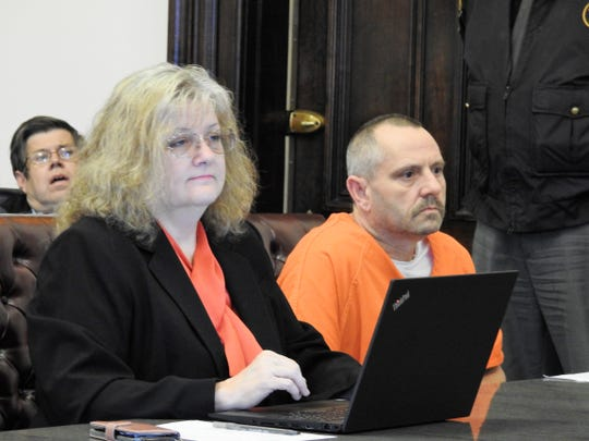 Kevin Lee Walters, 50, shown during his arraignment in February, has been sentenced to life without possibility of parole for one count of aggravated murder, an unclassified felony.