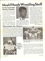 A copy of the student newspaper article announcing John Maehl's hiring as Don Bosco's first wrestling coach back in 1968.