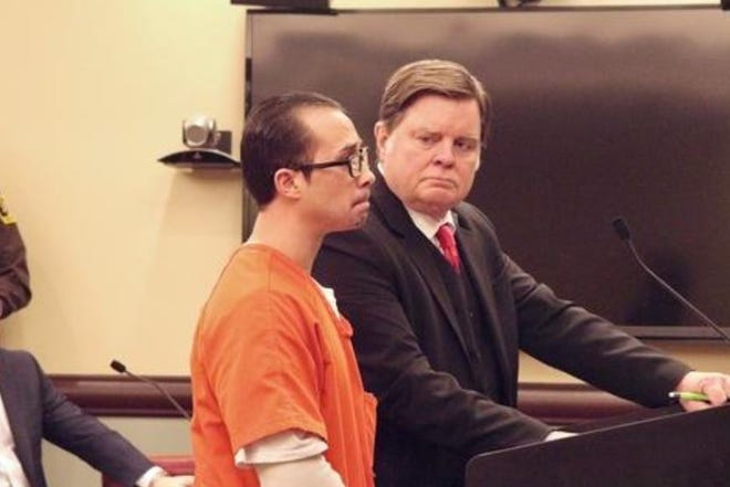 Tristen Reyes is sentenced for the sexual assault of a Hope College student on Monday, Feb. 17, 2020.