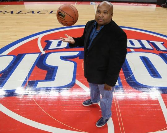 Detroit Free Press' Pistons beat writer Vince Ellis on Nov. 3, 2015 at the Palace of Auburn Hills.