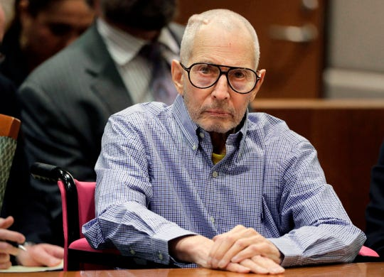 Robert Durst sits in a courtroom in Los Angeles on Dec. 21, 2016.