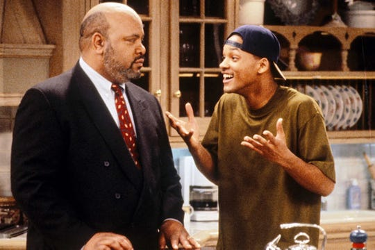 "James Avery and Will Smith in ""The Fresh Prince of Bel-Air."""