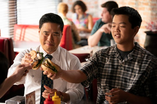 """Randall Park, left, and Hudson Yang star in """"Fresh Off the Boat."""""""