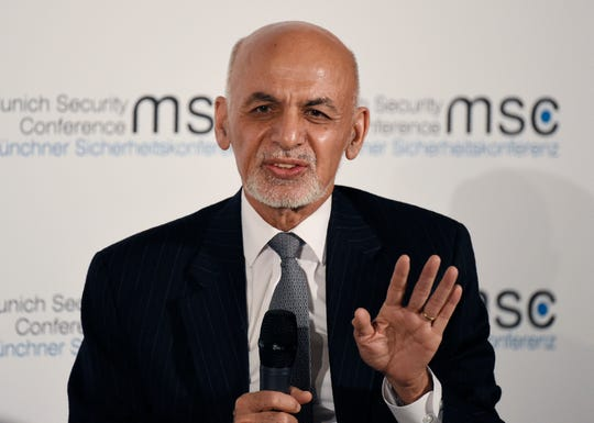 In this Saturday, Feb. 15, 2020 file photo, Afghan President Ashraf Ghani speaks at the Munich Security Conference, in Munich, Germany.
